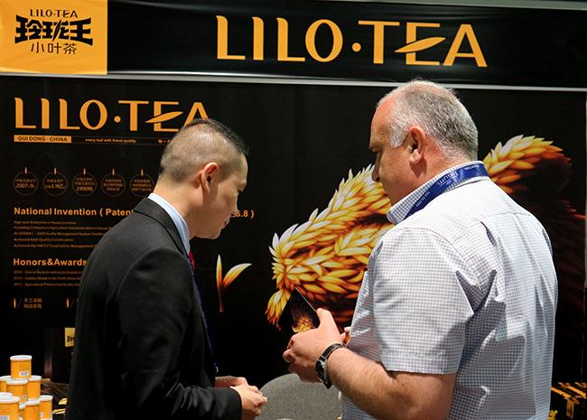 美国发布会-玲珑王小叶茶在美国拉斯维加斯世界茶叶博览会现场-02